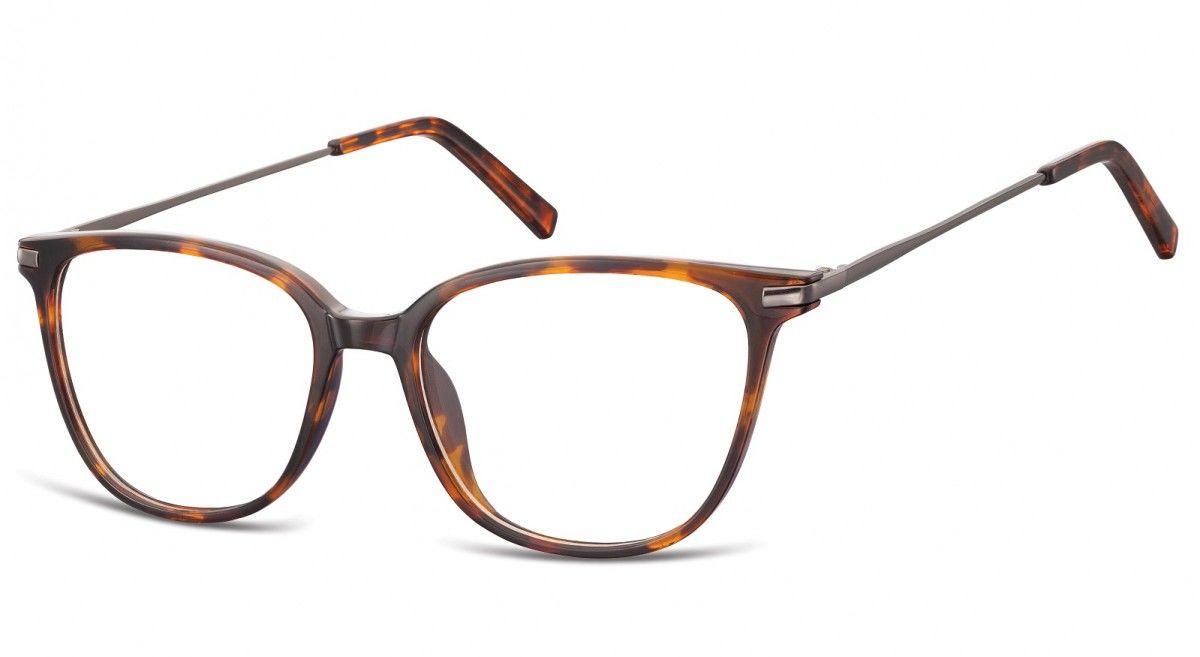 Okulary oprawki zerówki korekcyjne Nerdy Unisex Sunoptic AC26 szylkret