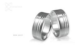 Obrączki srebrne - wzór Ag-017