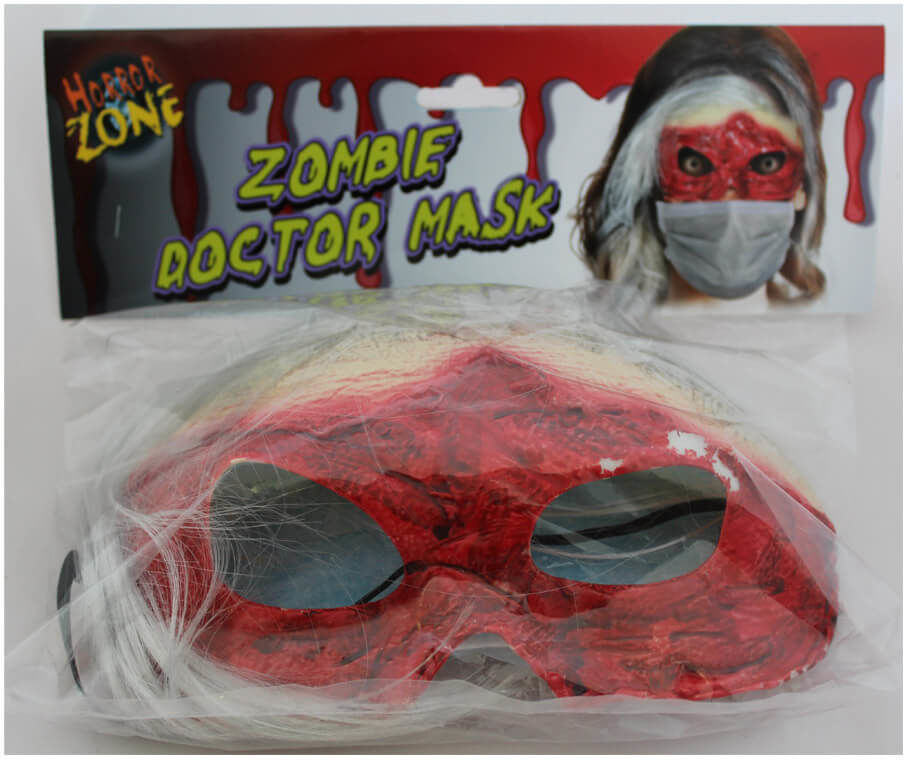 Maska lateksowa Zombie Doktor - 1 szt.