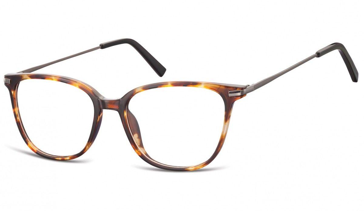 Okulary oprawki zerówki korekcyjne Nerdy Unisex Sunoptic AC26A bursztynowe