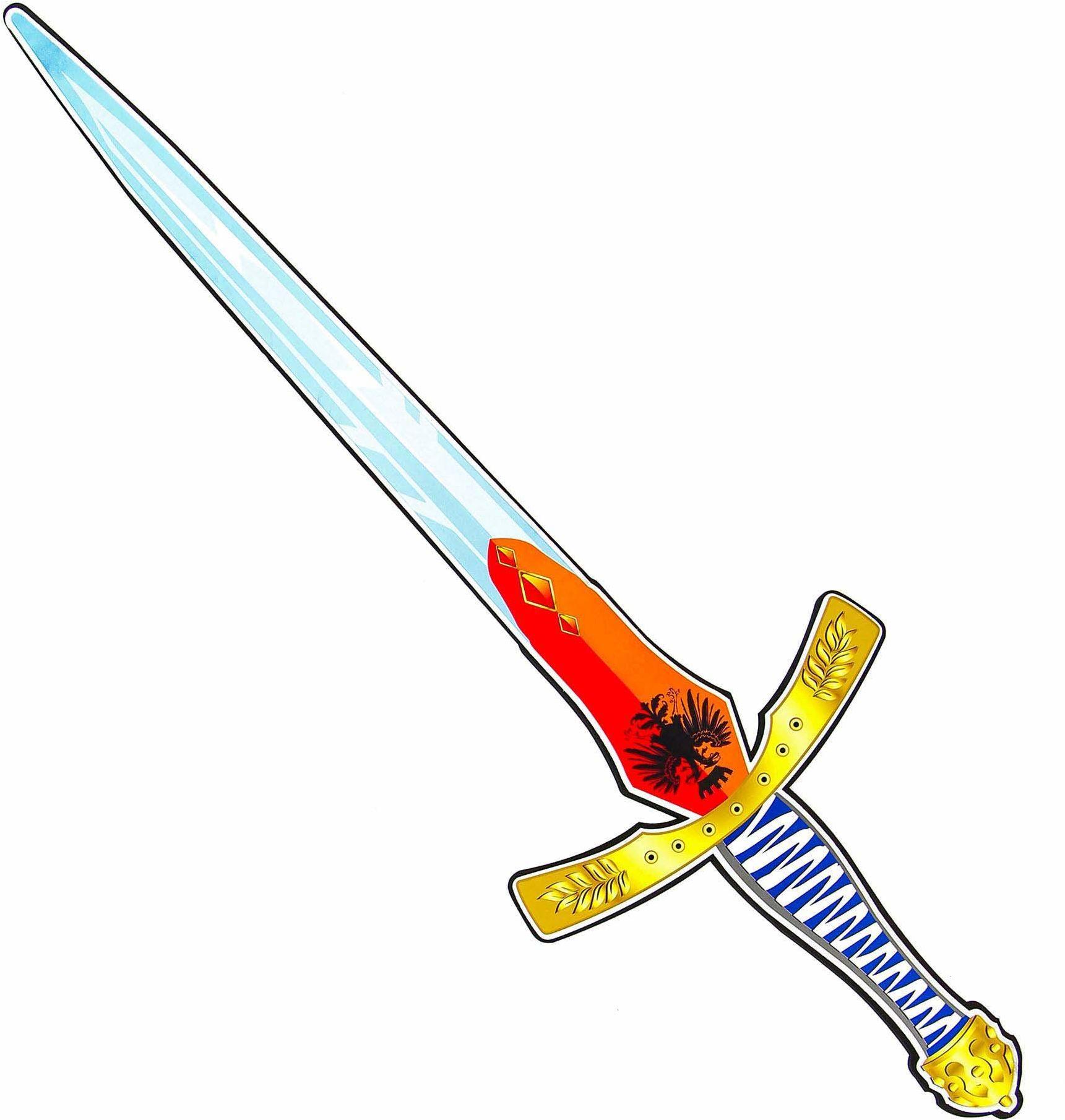Widmann 97302  miecz rycerski, wykonany z miękkiej pianki, dla dzieci, średniowieczny, miecz do zabawy, broń, żołnierzy, miecz rycerski, impreza tematyczna, karnawał