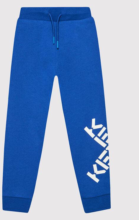 Spodnie dresowe K24070 Niebieski Regular Fit