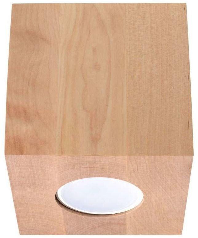 Sollux - plafon quad naturalne drewno