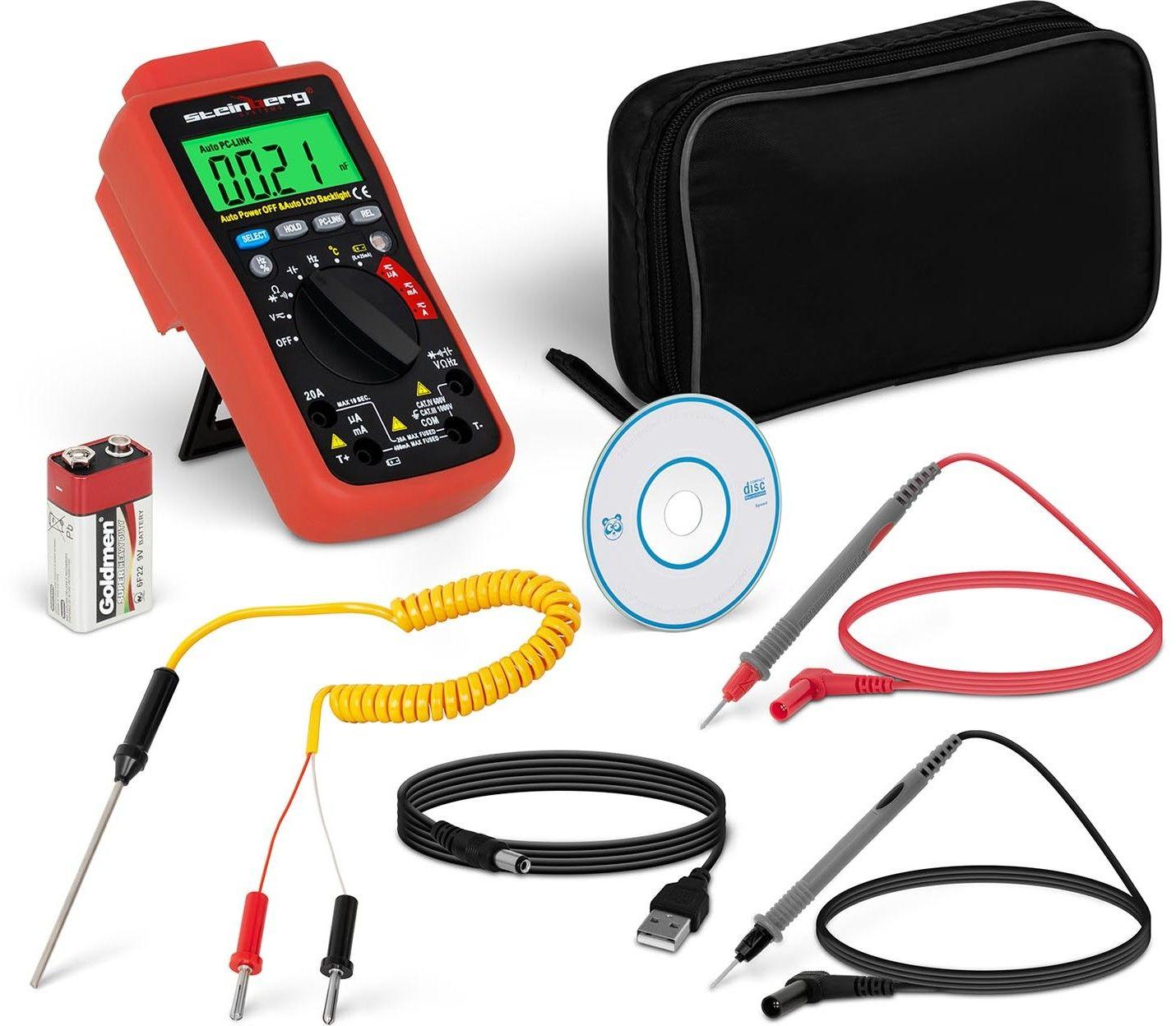 Multimetr cyfrowy - tester baterii - Steinberg Systems - SBS-DM-1000USB - 3 lata gwarancji/wysyłka w 24h