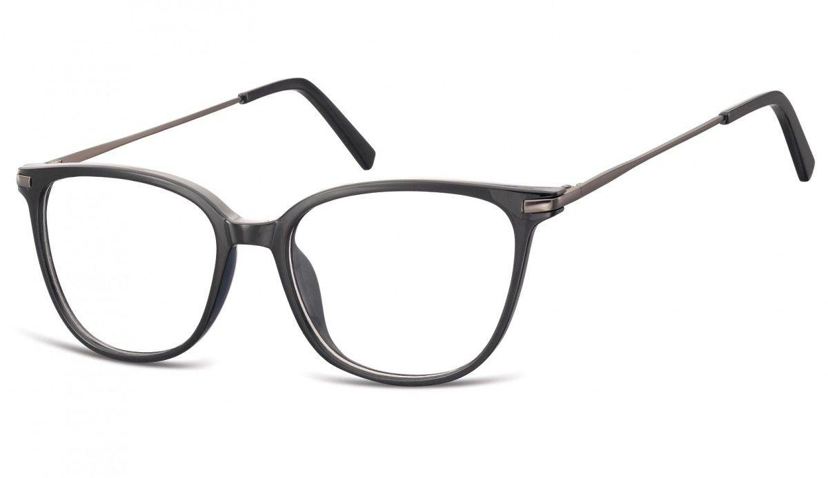 Okulary oprawki zerówki korekcyjne Nerdy Unisex Sunoptic AC26B czarne