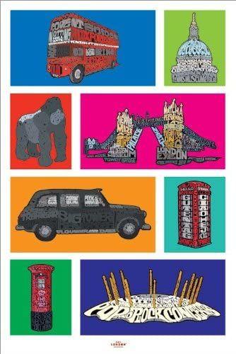 Empire 377142 Londyński kolaż plakat 61 x 91,5 cm