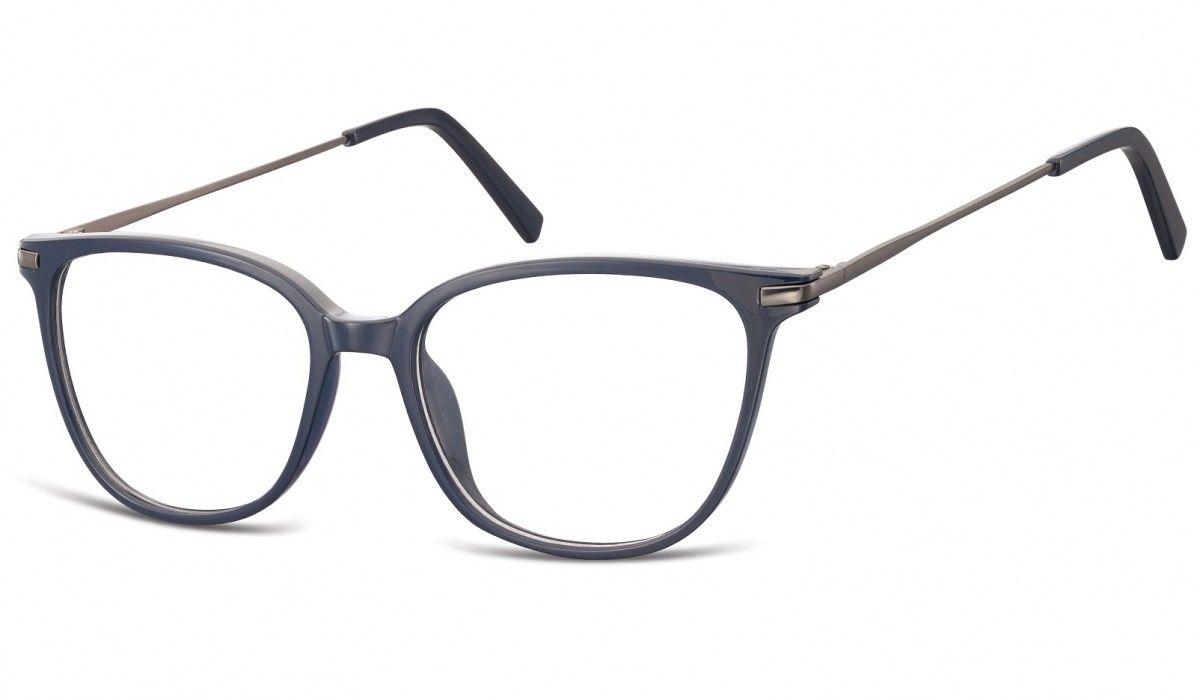 Okulary oprawki zerówki korekcyjne Nerdy Unisex Sunoptic AC26C ciemnogranatowe