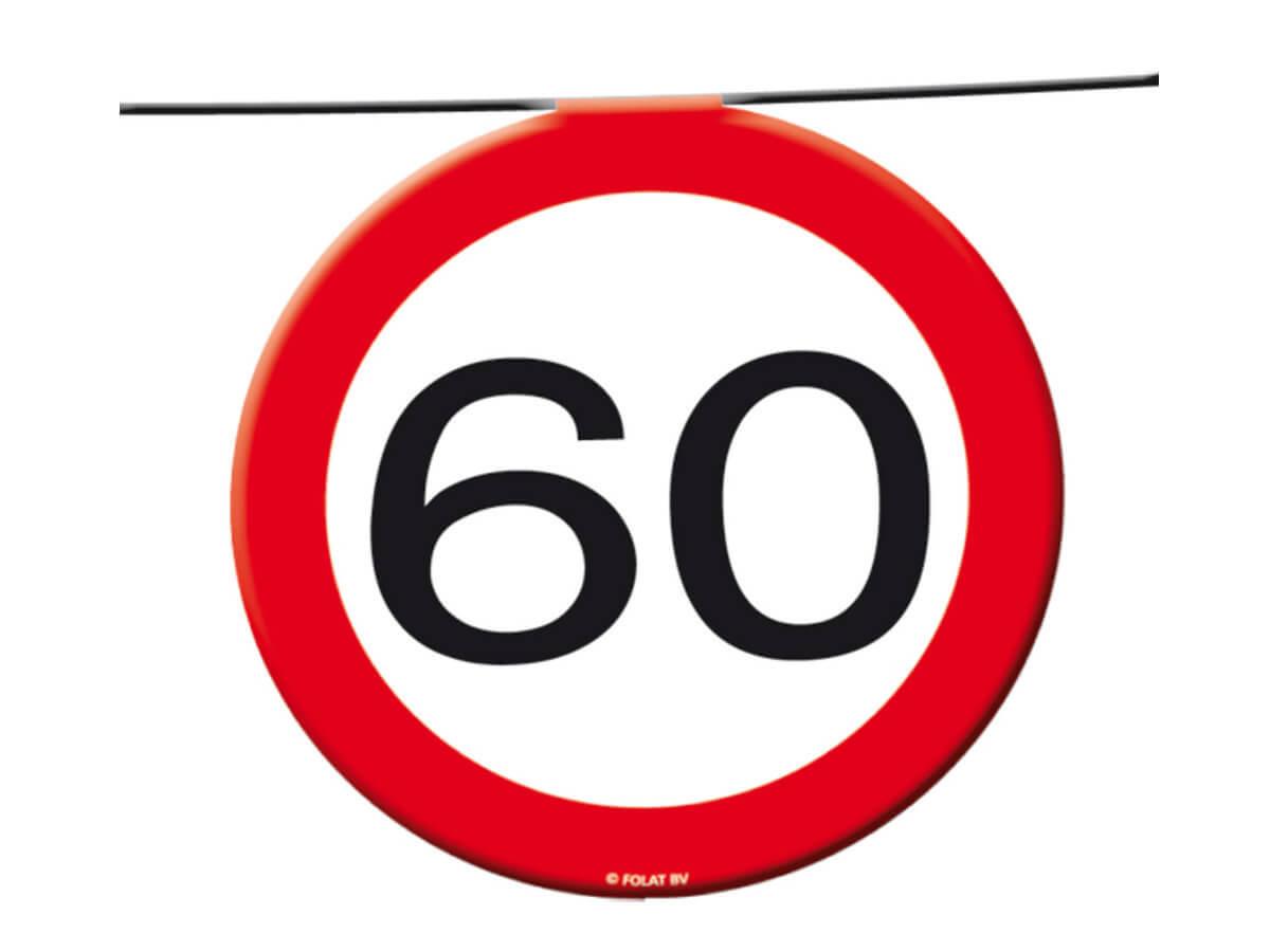 Baner flagi Znak zakazu 60tka - 12 m - 1 szt.