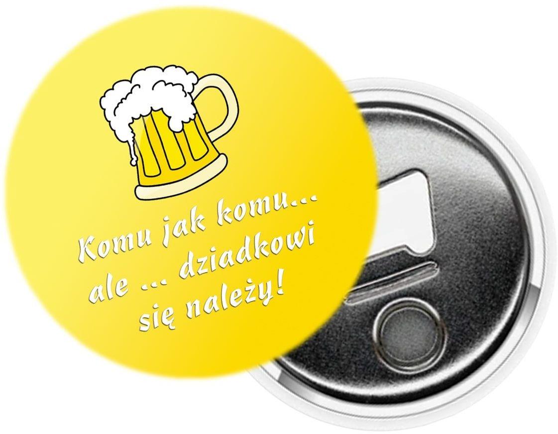 Otwieracz do butelek na dzień dziadka - Piwo dziadkowi się należy - 1 szt.