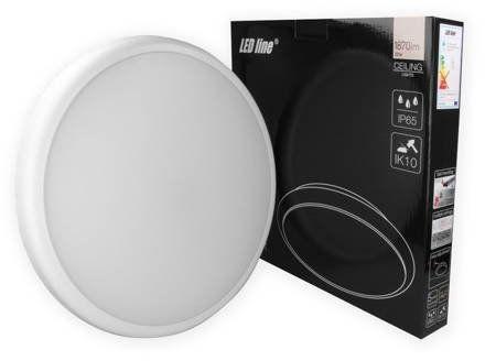 Plafon LED Line LUNAR 16W 1360lm barwa neutralna 4K IP65 z czujnikiem ruchu