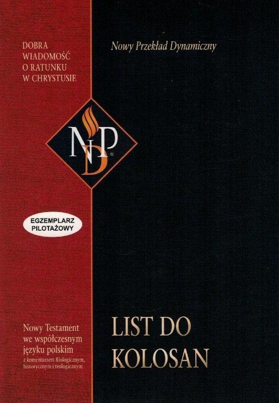 List do Kolosan Nowy Przekład Dynamiczny (NPD) - egzemplarz pilotażowy