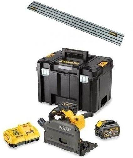 akumulatorowa pilarka tarczowa, zagłębiarka 165mm, 54V 2x6,0Ah Li-lon + szyna prowadząca 1,5m DeWALT [DCS520T2R-QW]
