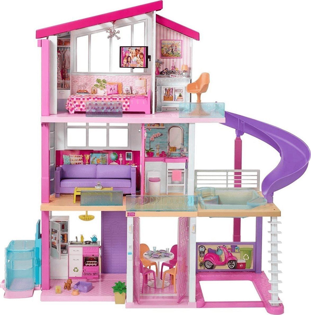 Barbie - Idealny Domek dla lalek światło i dźwięk GNH53