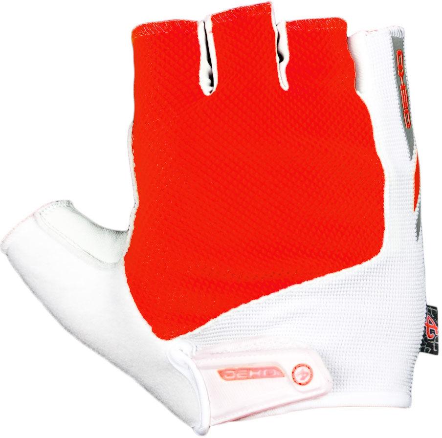 DEKO DKSG-509 rękawiczki rowerowe biało-czerwone Rozmiar: XL,deko-dksg-509-white-red