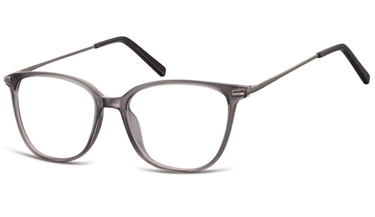 Okulary oprawki zerówki korekcyjne Nerdy Unisex Sunoptic AC26F ciemnoszary transparentny