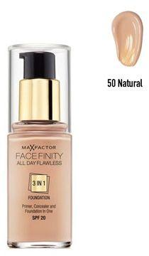 Max Factor Facefinity All Day Flawless 3 in 1 Foundation 50 Natural Podkład - 30ml Do każdego zamówienia upominek gratis.