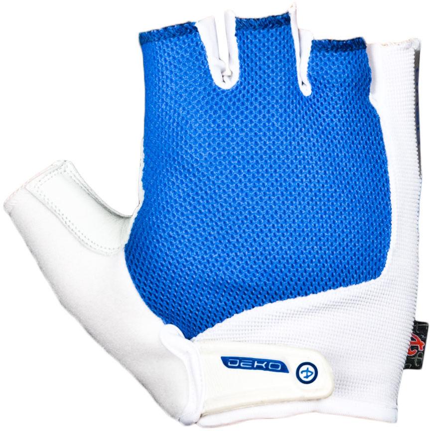 DEKO DKSG-509 rękawiczki rowerowe biało-niebieskie Rozmiar: XL,deko-dksg-509-white-blue