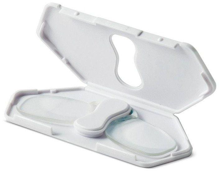 Binokular powiększający (lupa) do czytania w formie okularów - biały - IF
