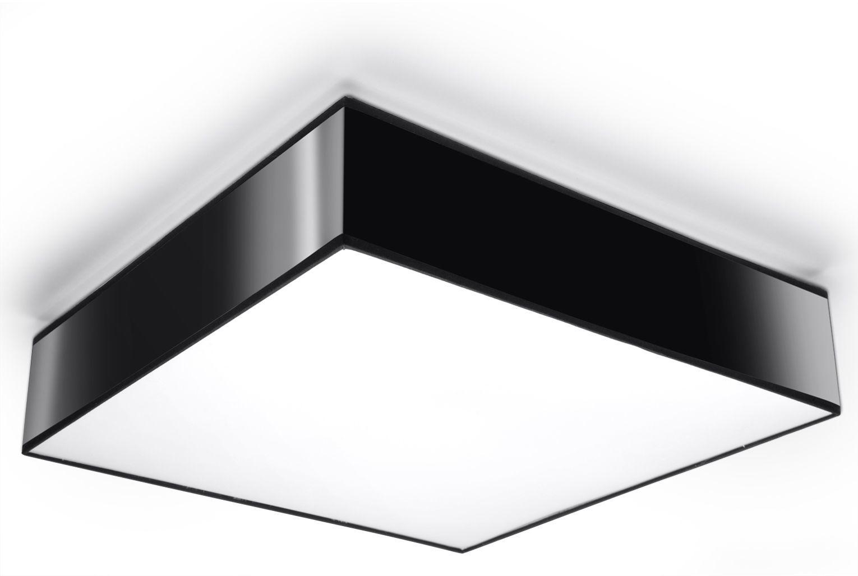 Kwadratowy plafon do salonu E797-Horux - czarny