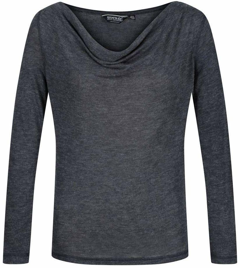 Regatta T-shirt Lifestyle długi rękaw polo/kurtki, damskie, granatowe/srebrne, FR: XXS (rozmiar producenta: 8)