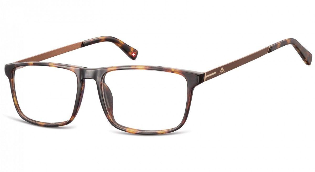 Okulary oprawki zerówki korekcyjne Nerdy Unisex Montana MA59A panterka + brązowy zausznik