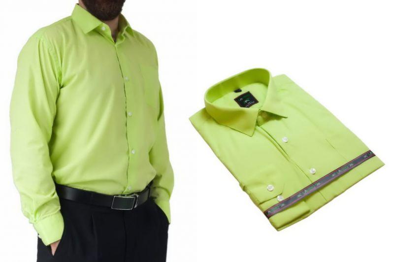 Koszula męska wizytowa pistacjowa Laviino dl92