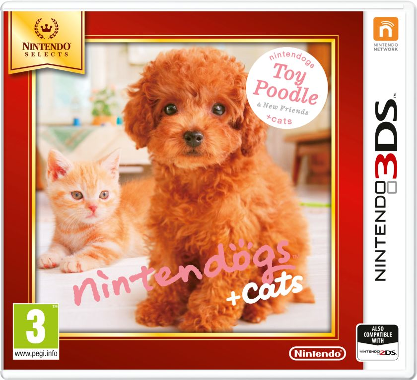 Gra Nintendogs+Cats-Toy Poodle&new Friends - Nintendo Selects (Nintendo 3DS)