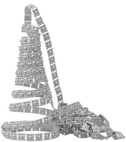 Łańcuch choinkowy zdobiony pasek srebrny 270cm 1 szt BG9843SRE