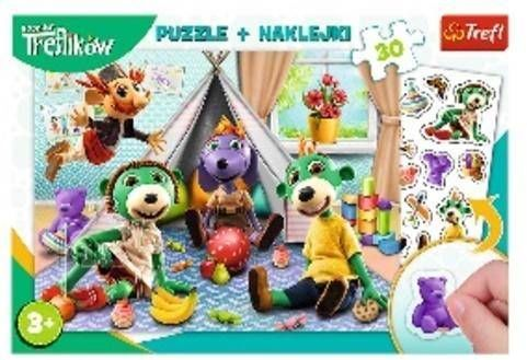 Puzzle 30 + naklejki Rodzina Treflików TREFL