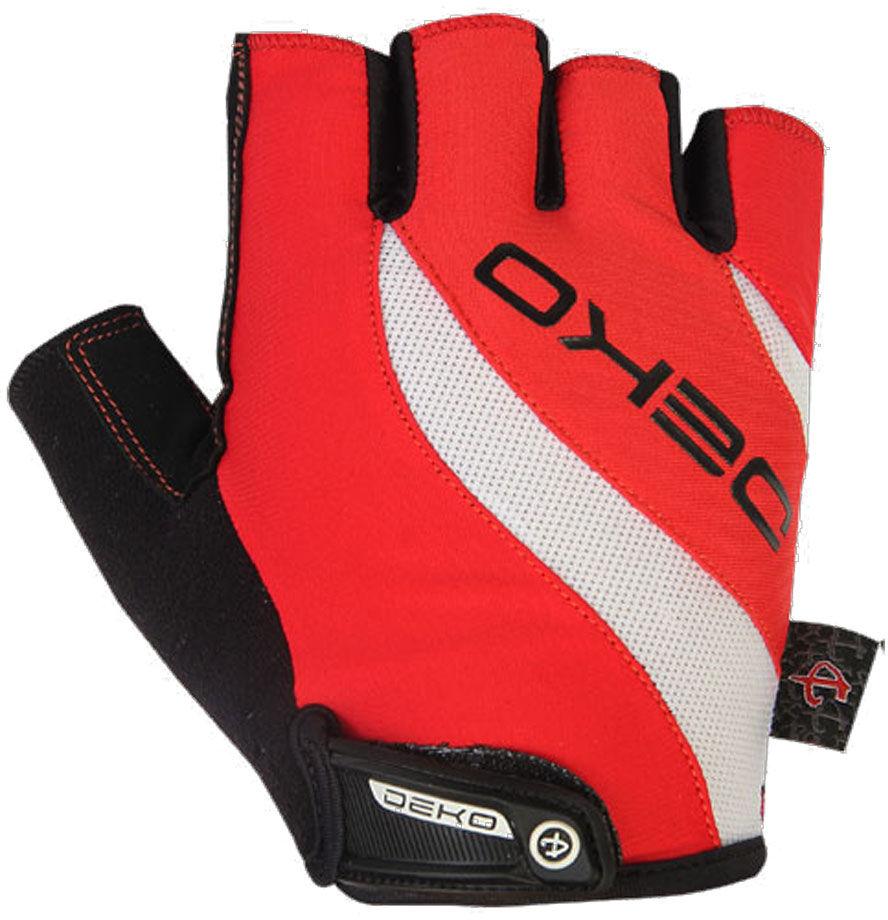 DEKO rękawiczki rowerowe czerwone DKSG-1014-003 Rozmiar: L,Deko-DKSG-1014-003