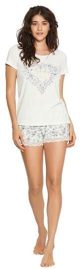 Pizama Floral 38057-01X Ecru