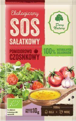 Sos Sałatkowy Pomidorowo-Czosnkowy 10g - Dary Natury