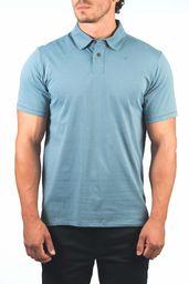 Hurley Męskie M Dri-fit Harvey Solid Polo S/S T-shirty niebieski Ozone Blue S
