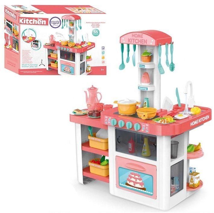 WOOPIE Kuchnia Dla Dzieci Obieg Wody Dźwięk Światło + 55 Akcosoriów