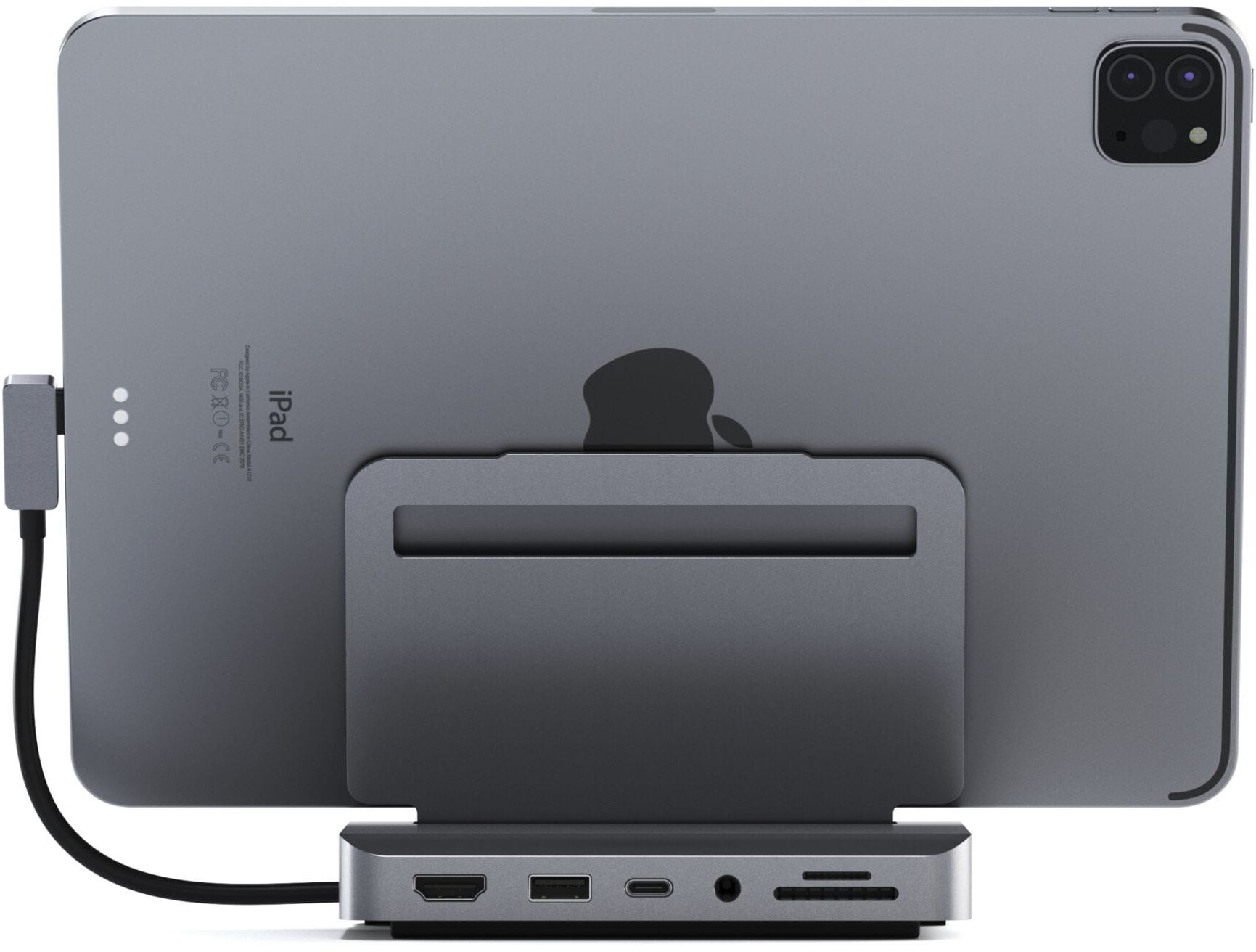 SATECHI Aluminum Stand Hub Space Gray for iPad Pro
