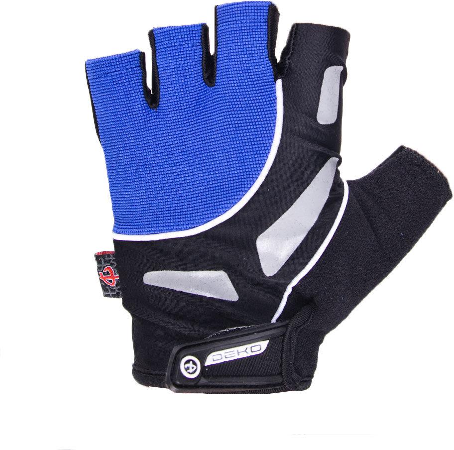 DEKO rękawiczki rowerowe czarne DKSG-505 Rozmiar: S,Deko-gloves-czarno-niebieskie