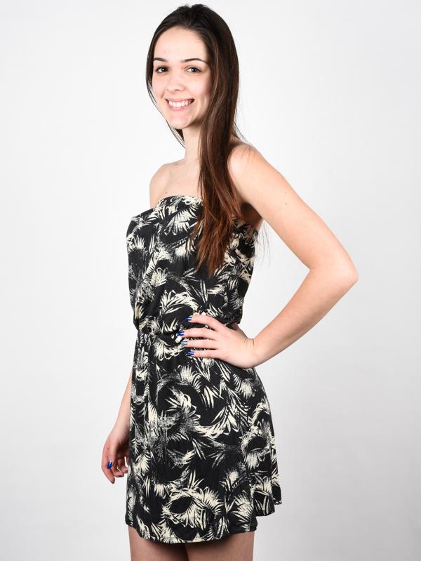 Billabong NEW AMED OFF BLACK krótkie sukienki