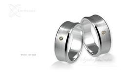 Obrączki srebrne - wzór Ag-022