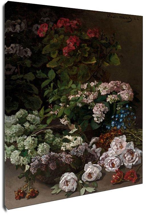 Spring flowers, claude monet - obraz na płótnie wymiar do wyboru: 40x50 cm