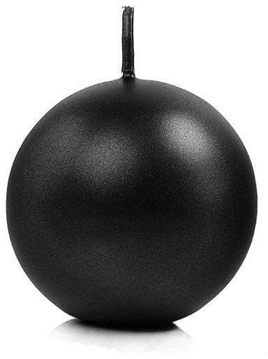 Świeca kula czarna metalizowana 6cm 1 sztuka SKUMET60-010-1x