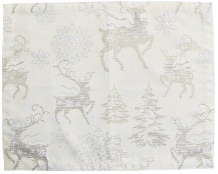 Podkładka świąteczna Srebrny Renifer
