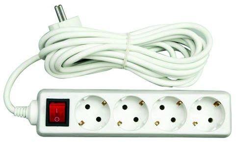 Przedłużacz elektryczny z wyłącznikiem 5G Z/U 3m