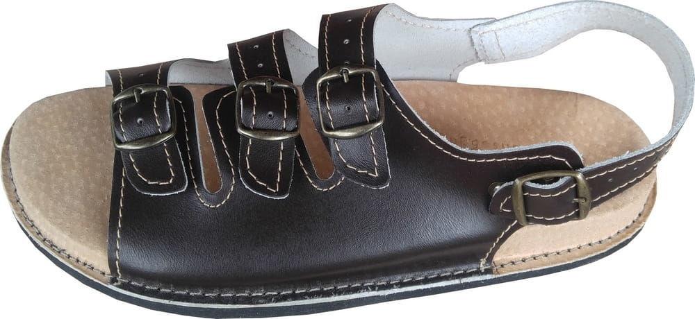 Czarne sandały skórzane Fusbet
