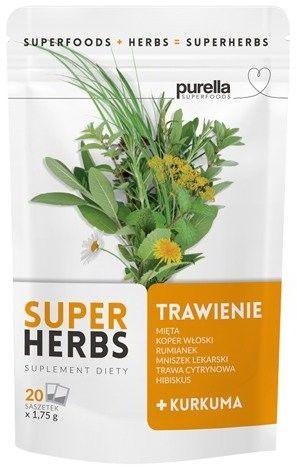 Purella SuperHerbs mieszanka ziół na trawienie 20 saszetek