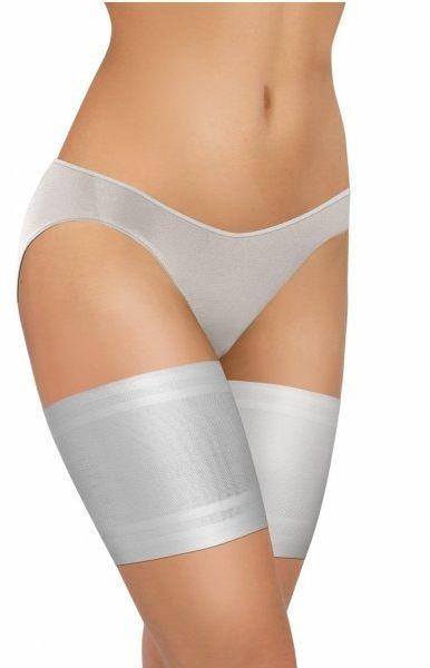 Opaska na uda thigh bands gładka biała sesto senso
