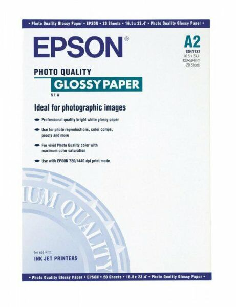 Papier Epson Photo Quality Glossy Paper A2, 141g/m2 20 ark. S041123