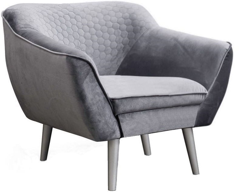 Fotel tapicerowany Cindy Decor w stylu skandynawskim