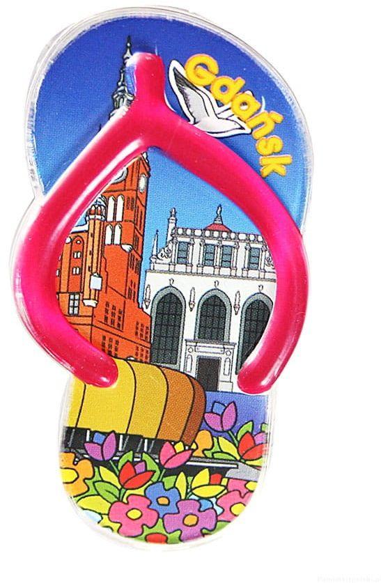 Magnes plastikowy klips - klapek Gdańsk