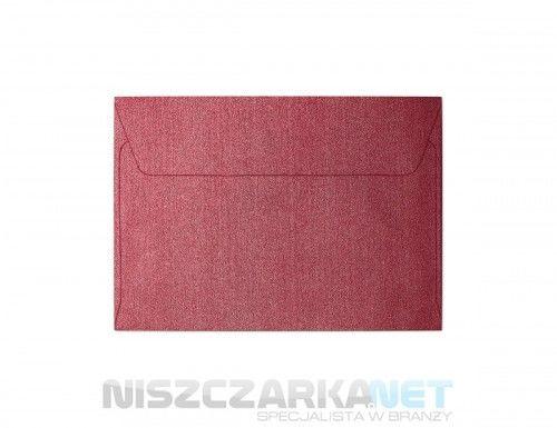 Koperta / koperty ozdobne C6 - opk 10szt 120g/m2 CZERWONY PERŁOWY