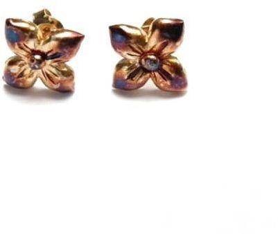 Kolczyki srebrne - Gotycki kwiat brązowy